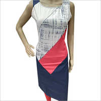 Ladies Sleeveless Printed Kurti