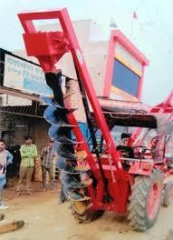 Post Hole Digger With Pole Erection Crane