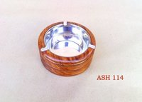 Round Wooden Ash Tray