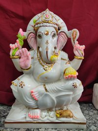 Lord Marble Ganesha Statues