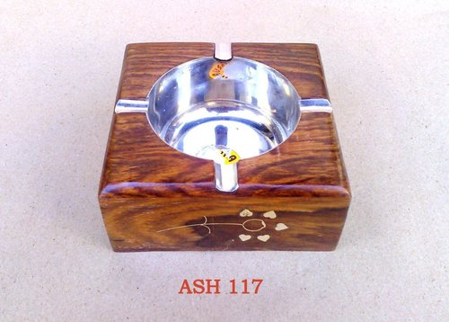 Square Wooden Ash Tray