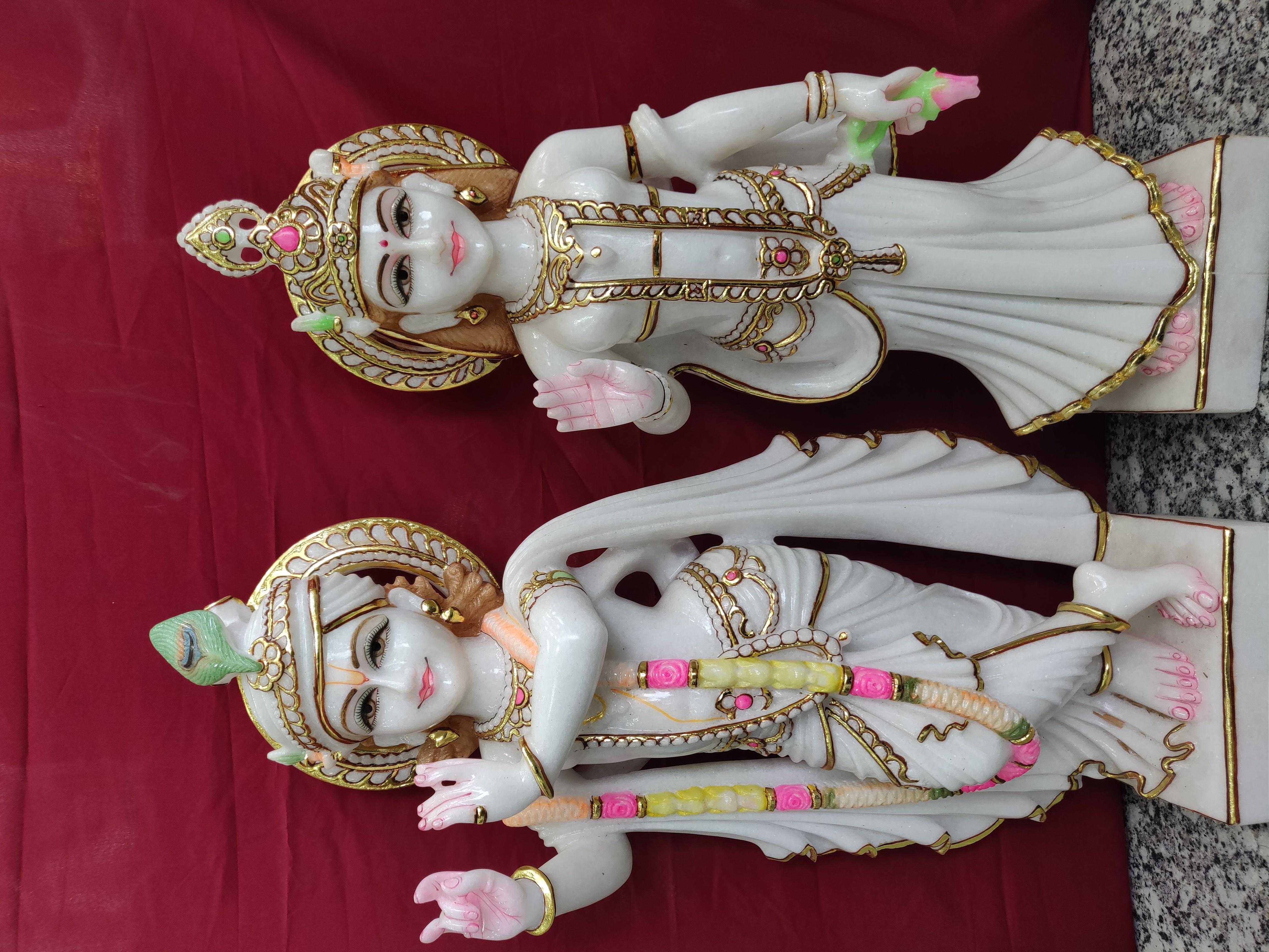 Lord Marble Radha Krishna Statues
