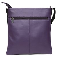 Purple Leather Messenger Bag