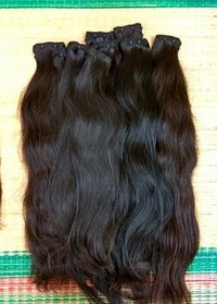 100% Black Indian  Natural  Weft Human Hair Extension