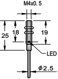 M4 ultra small inductive proximity sensor shielded threaded PNP NPN NO NC