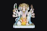Panchmukhi Hanuman Marble Murti