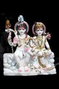 Marble Shiv Family Statue