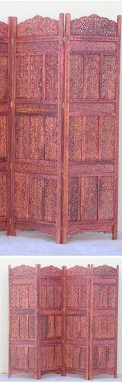 Carved Wooden Screen Kashmiri