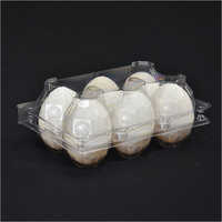 6 Cell Plastic Egg Tray