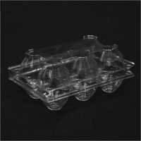 6 Eggs Transparent Clamshell Egg Tray