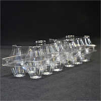 Clear Plastic Clamshell Egg Tray