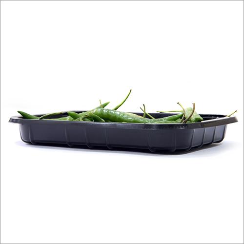 Green Chilli Plastic Black Tray