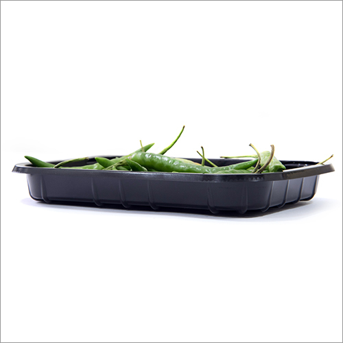 Green Chilli Plastic Black Tray