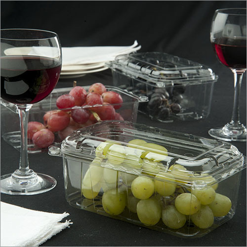 Transparent Grapes Packaging Plastic Punnets