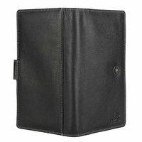 Black Leather Documents Holder