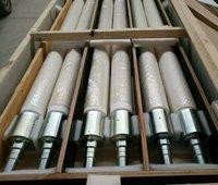 Fused silica ceramic roller