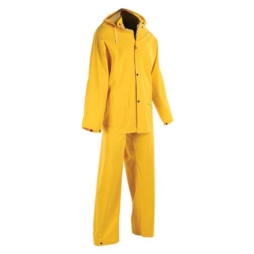Heavy Duty 3 Piece PVC Rain Suit
