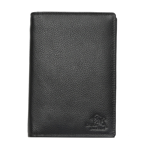 Leather Black Passport Case