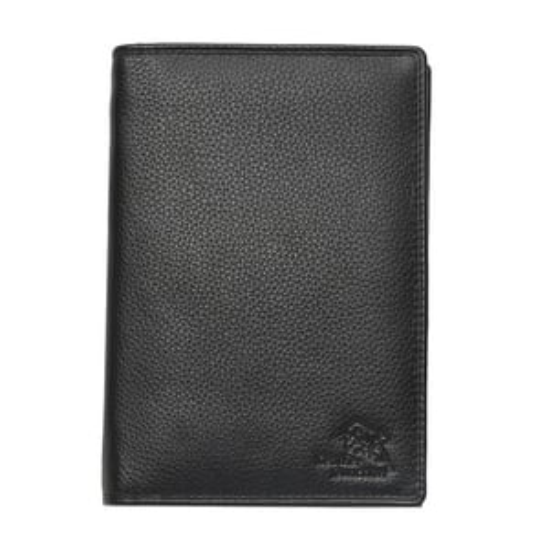 Leather Black Passport Case