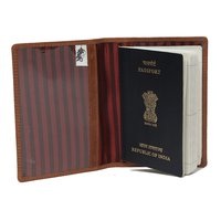 Leather Tan Colored Passport Holder