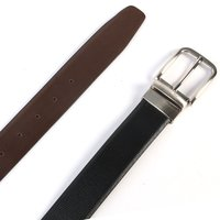 Leather Black & Brown Reversible Belt For Men