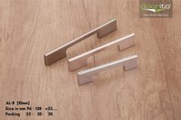 Aluminum handle for kitchen cabinet