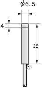 M6.5 ultra small short inductive proximity sensor unshielded PNP NPN NO NC L=35mm