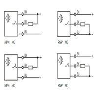 M6.5 ultra small inductive proximity sensor shielded unthreaded PNP NPN NO NC