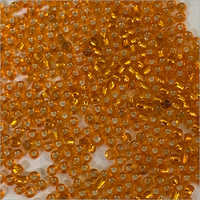 Orange Silver Lined Beads