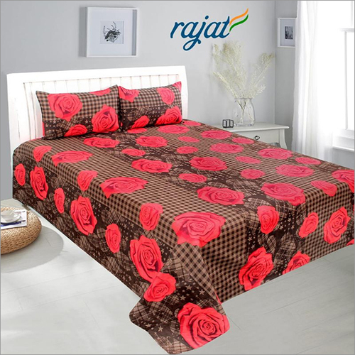 Cotton Printed 3D Bed Sheets