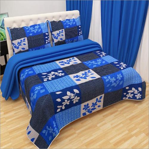 Designer Floral Print 3D Bed Sheet