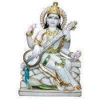 Goddes Saraswati Marble Statue