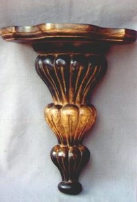 Carved Wooden Wall Shelf