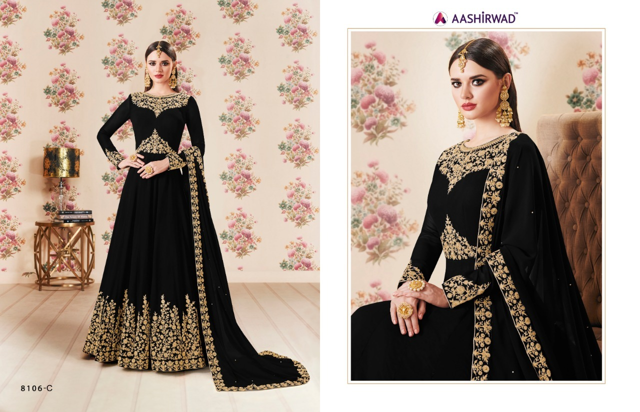 Designer Embroidered Anarkali Suit
