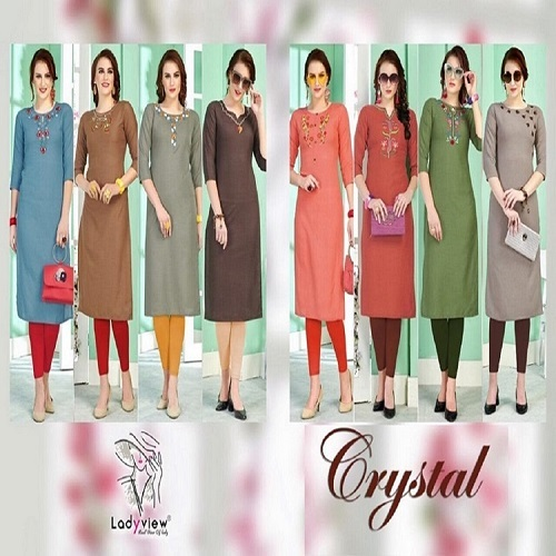 Designer Rubby Cotton Kurti with Hand Embroidery