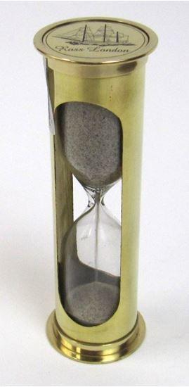 Brass Sand Timer Hourglass approx 5min