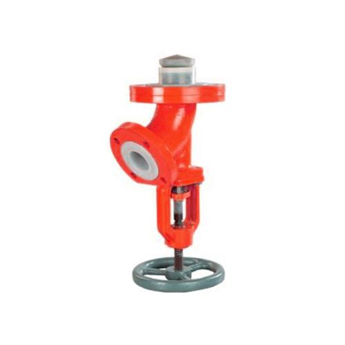 FEP lined Flush Bottom valves