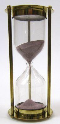 Brass 5-minute Hourglass Purple Sand