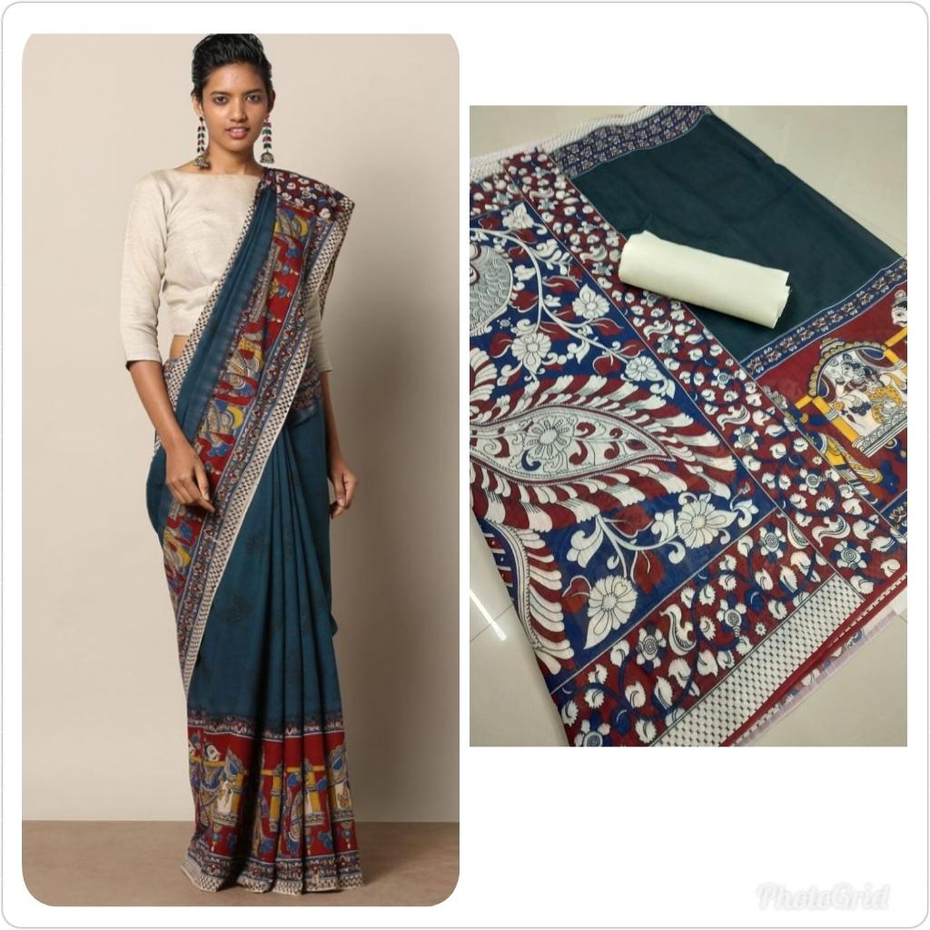 Designer Silk Cotton printed Saree