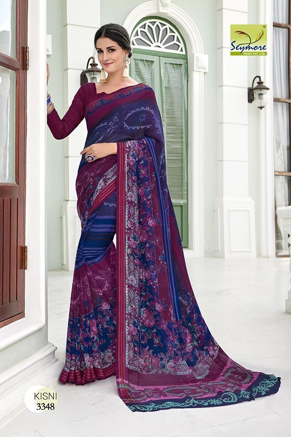 Designer Georgette Printed saree