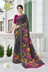 Designer Georgette Printed saree