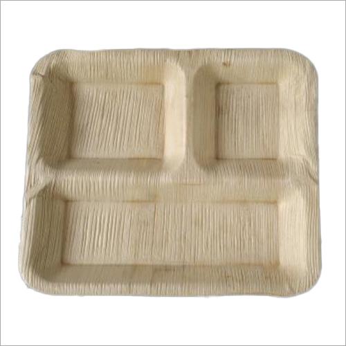 Areca Leaf Plate / Square / 10 inch / 3 Compartment