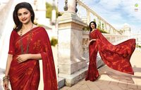 Latest Designer Chiffon White Rangoli Printed Saree