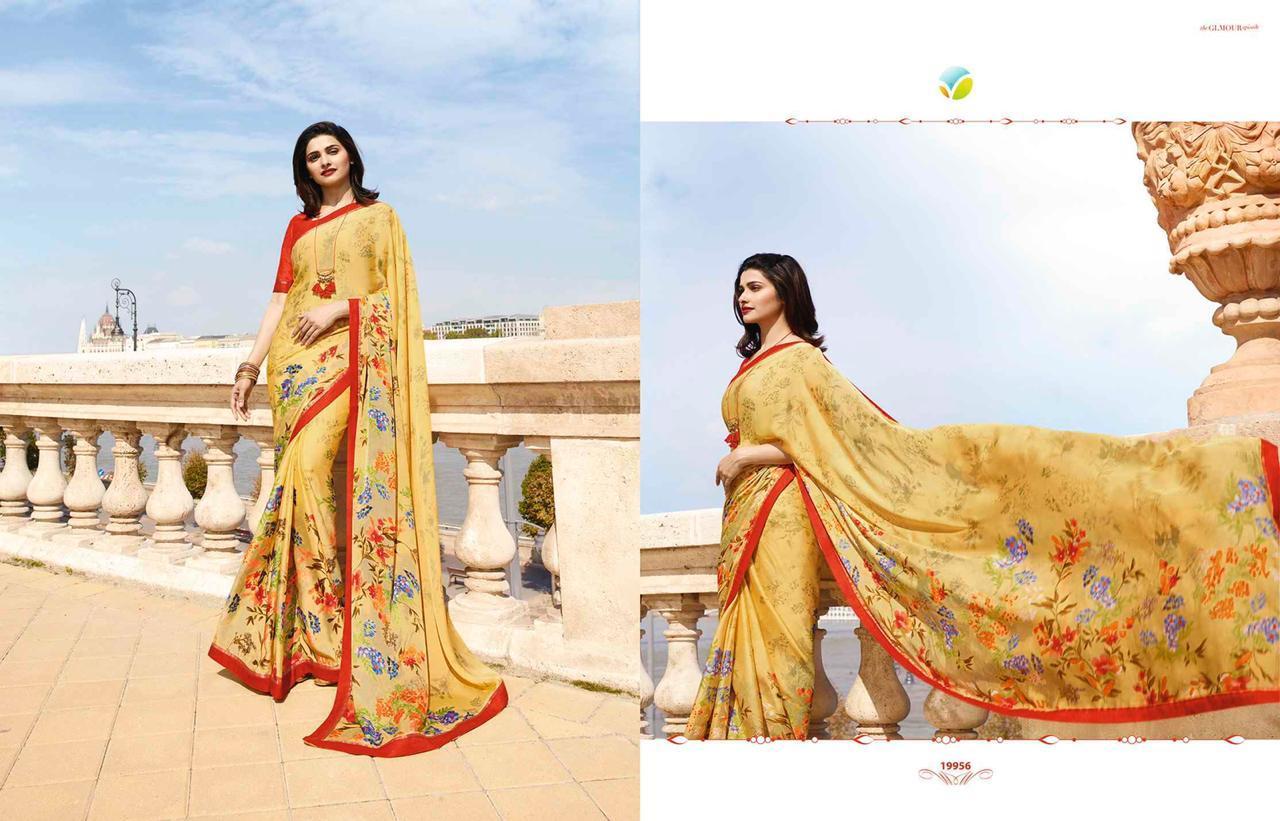 Latest Designer Chiffon White Rangoli Printed Saree