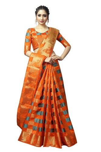 Designer Nylon Silk saree