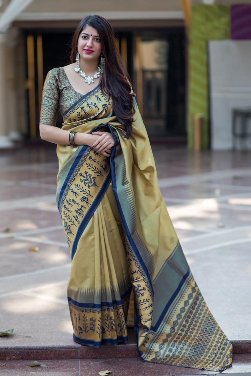 Latest Weaving Silk Jaquard Saree