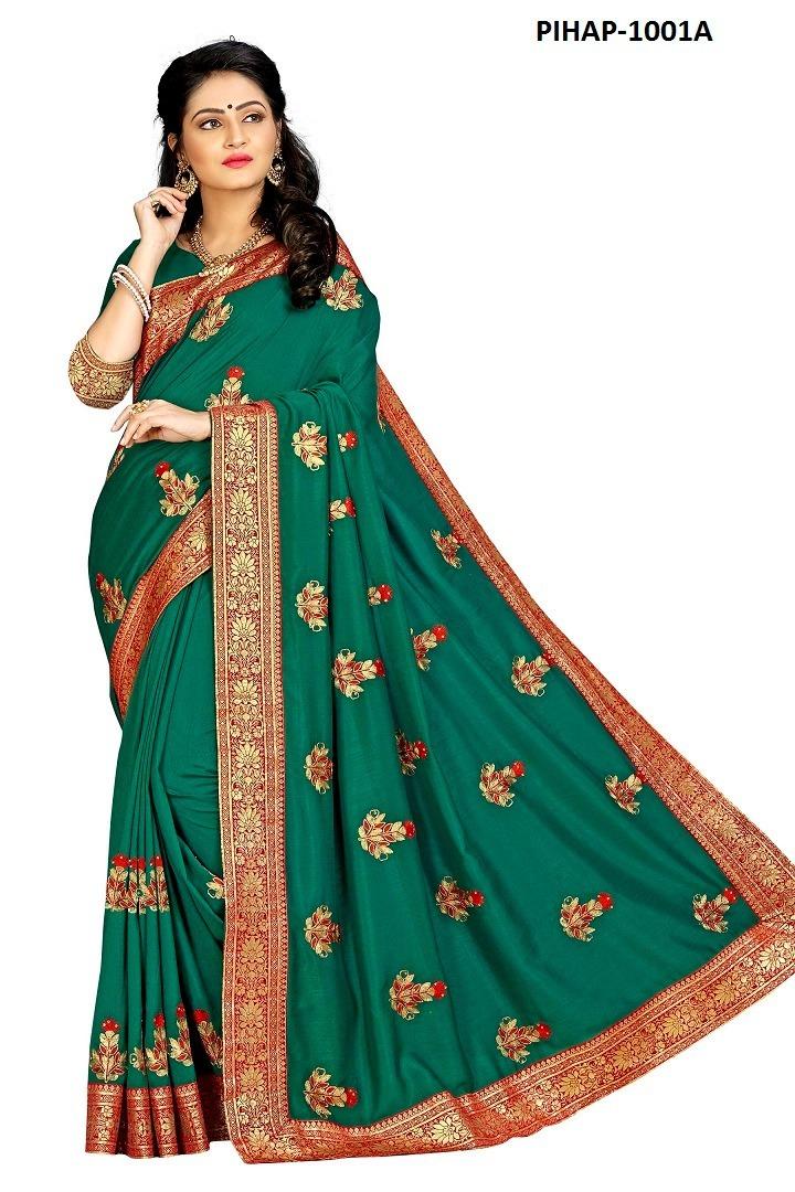 Designer Latest Embroidered Saree