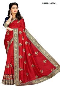 Designer Latest Embroidered Saree