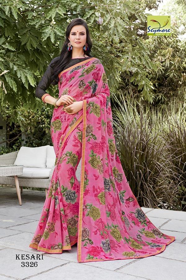 Designer Chiffon Printed Saree