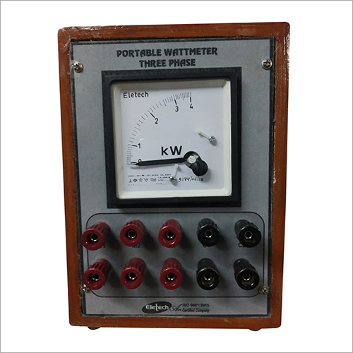 Portable Three Phase Watt Meter